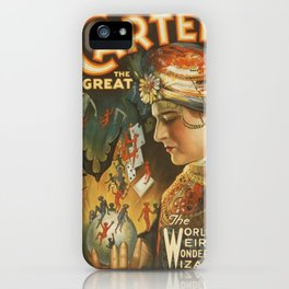 Vintage poster - Carter the Great iPhone Case