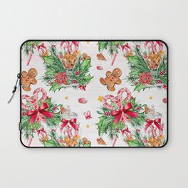 Christmas gingerbread candy cane Laptop Sleeve