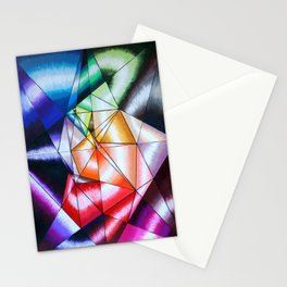 Colorful Geometric Op Art Stationery Cards