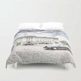 Buckingham Palace Snow Duvet Cover