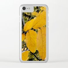 Yellow Leaves of Autumn Clear iPhone Case