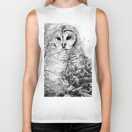 Winter Owl Biker Tank