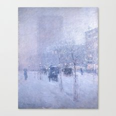 Late Afternoon, New York, Winter by Childe Hassam Canvas Print