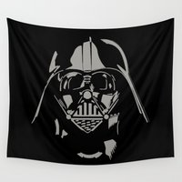 vader Wall Tapestries featuring Vader by WaXaVeJu