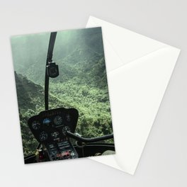 Helicopter Pilot's View Stationery Cards