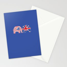 U.S.-U.K. Friendship Elephants Stationery Cards