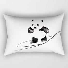 Surfing Panda Rectangular Pillow