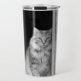 Doorway Cat 2 Travel Mug