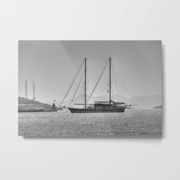 Schooner Yalikavak Marina Bodrum Metal Print