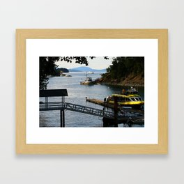 Harbour at Butchart´s Garden Framed Art Print