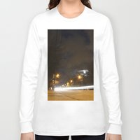 broadway Long Sleeve T-shirts featuring Broadway night blur by RMK Photography