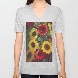 Sunflowers by Emil Nolde Unisex V-Neck