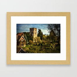 Goring on Thames Village Framed Art Print