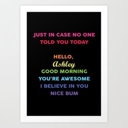 Poster Just In Case No One Told You Today Personalized Art Print