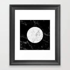 Marble Moon II Framed Art Print