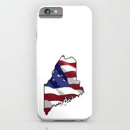 Patriotic Maine iPhone Case