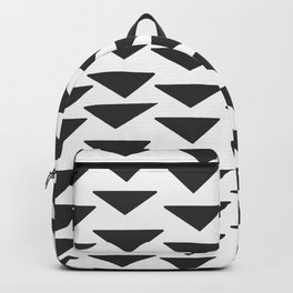 7-1010-0-P1, Black rounded triangles, big size, Backpack