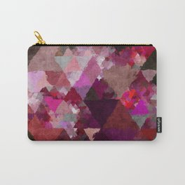 When the night comes- Dark red purple triangle pattern- Watercolor Illustration Carry-All Pouch