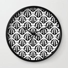 Retro black and white pattern Wall Clock