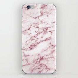 Contento rosa pink marble iPhone Skin
