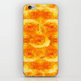MODERN  GOLDEN ROSES FLOWERS CARPET iPhone Skin
