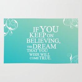 believing.. cinderella quote Rug