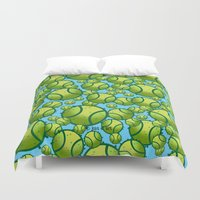 tennis Duvet Covers featuring Tennis by joanfriends