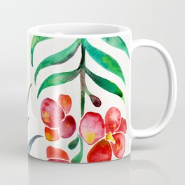 Blooming Orchid – Red & Green Palette Coffee Mug