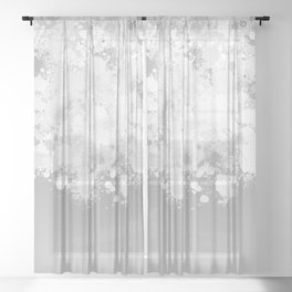 paint splatter on gradient pattern bwmbi Sheer Curtain