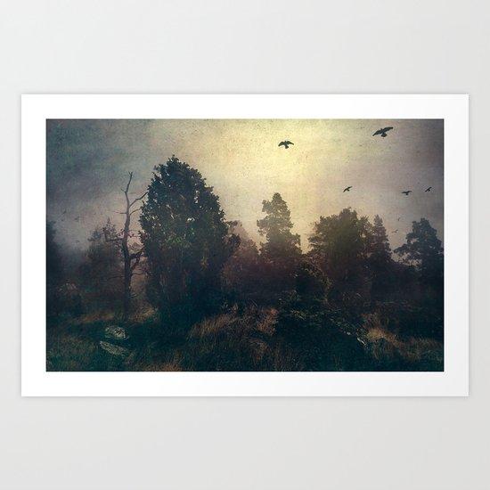 Home is where the fog is Art Print