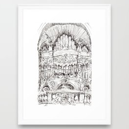 a superfluous organ Framed Art Print
