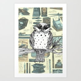 Dotty the Owl 3 Art Print