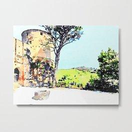 Brisighella: castle and landscape Metal Print