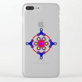 Fidget Spinner Design version 4 Clear iPhone Case