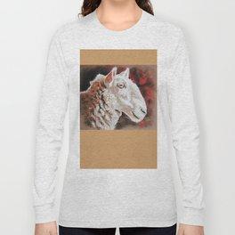 "Pastel Drawing ""Sheepish Grin"" Long Sleeve T-shirt"