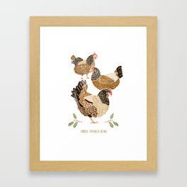 Three French Hens Framed Art Print