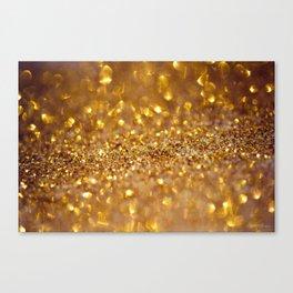Golden glitter #society6 Canvas Print
