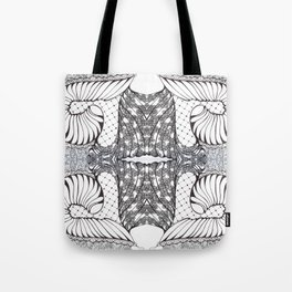 Black and White Zen Doodle 3 Tote Bag