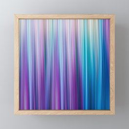 Abstract Purple and Teal Gradient Stripes Pattern Framed Mini Art Print