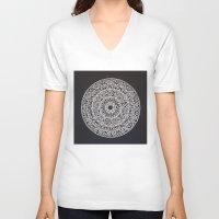 spiritual V-neck T-shirts featuring Spiritual Mandala by msimona
