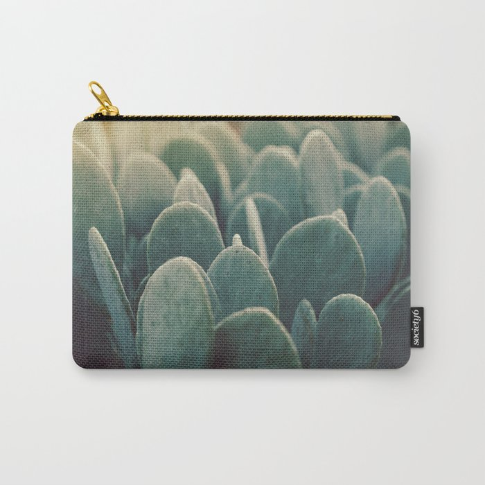 Green + Gold Carry-All Pouch