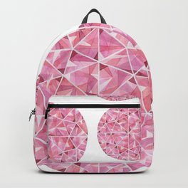 Red Round Gem Pattern Backpack