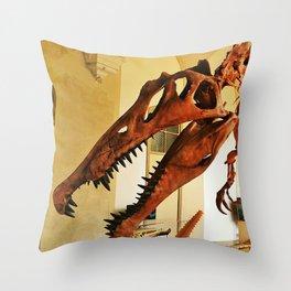 Spynosaurus Skeleton Throw Pillow