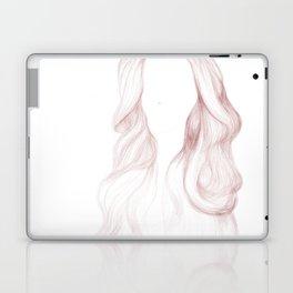 Red Wavy Hair Laptop & iPad Skin