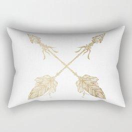 Tribal Arrows Gold on White Rectangular Pillow