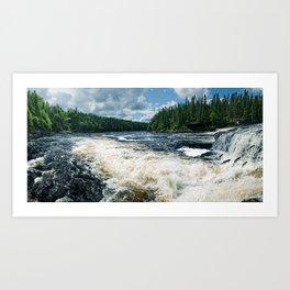 Swim Upstream Art Print
