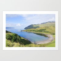 nan lawson Art Prints featuring Camas nan Geall Ardnamurchan Scotland by Chris Thaxter