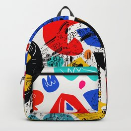 Cannes French Riviera Croisette Carlton Art Backpack