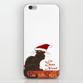 Le Chat Noel Christmas Vector iPhone Skin