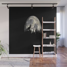 Wild Solitary Wolf Wall Mural